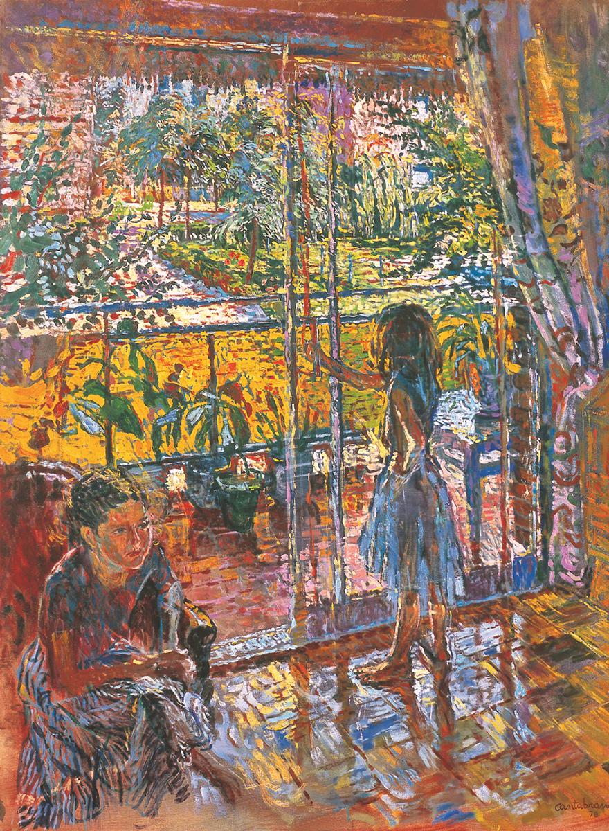 El ventanal, oleo sobre lienzo 145x114 cm Decada 70