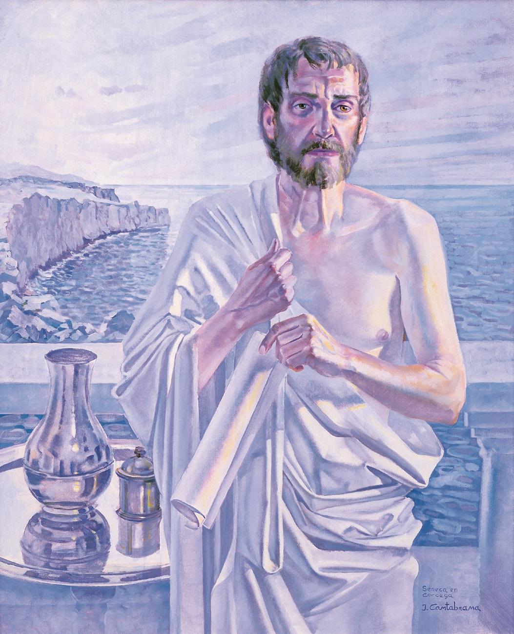 Seneca en Corcega oleo sobre lienzo 92x73 cm