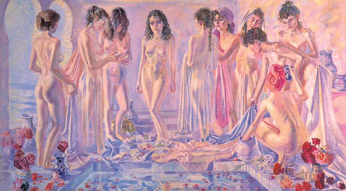 Bano-de-Azahara-oleo-sobre-lienzo-180x225-cm