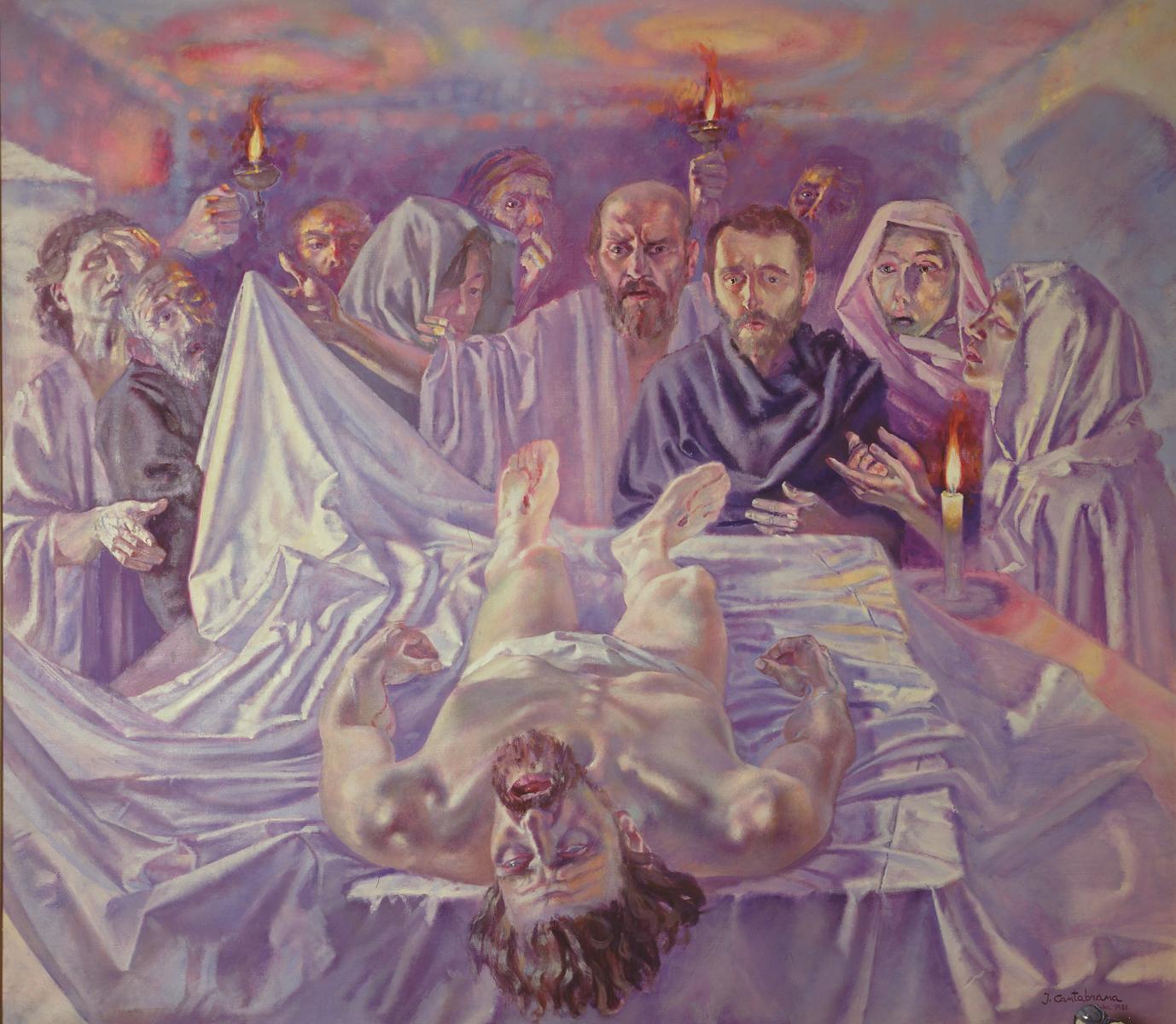 Cristo-yacente--oleo-sobre-lienzo-160x180-cm