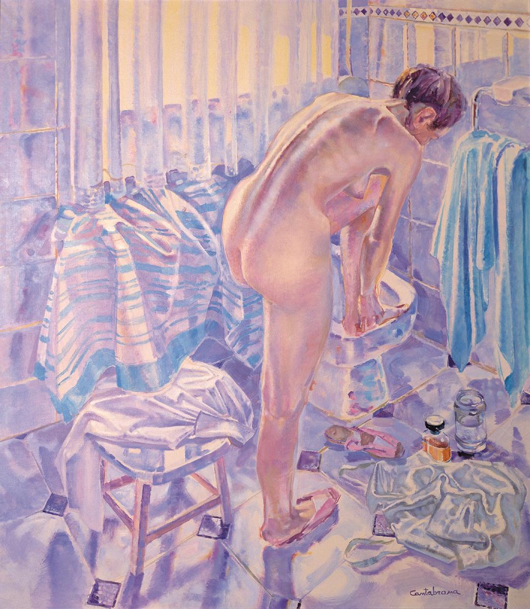 Desnudo-en-el-bano-y-telas-oleo-sobre-lienzo-140x120-cm
