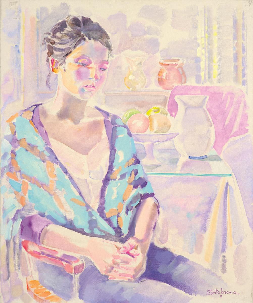 Joven-con-manton-oleo-sobre-lienzo-65x54-cm
