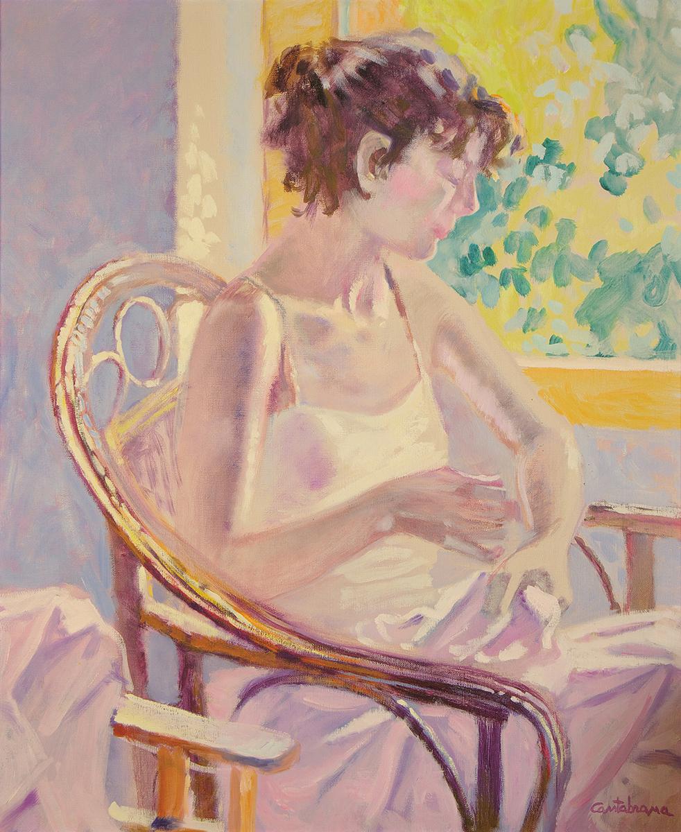 Joven-en-sillon-de-mimbre-oleo-sobre-lienzo-100x81-cm