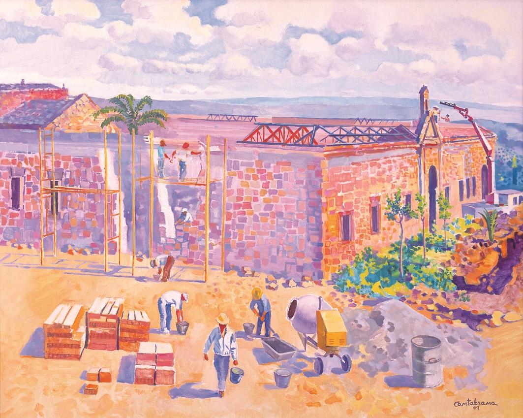 La rehabilitacion de la Colora oleo sobre lienzo 65x81 cm