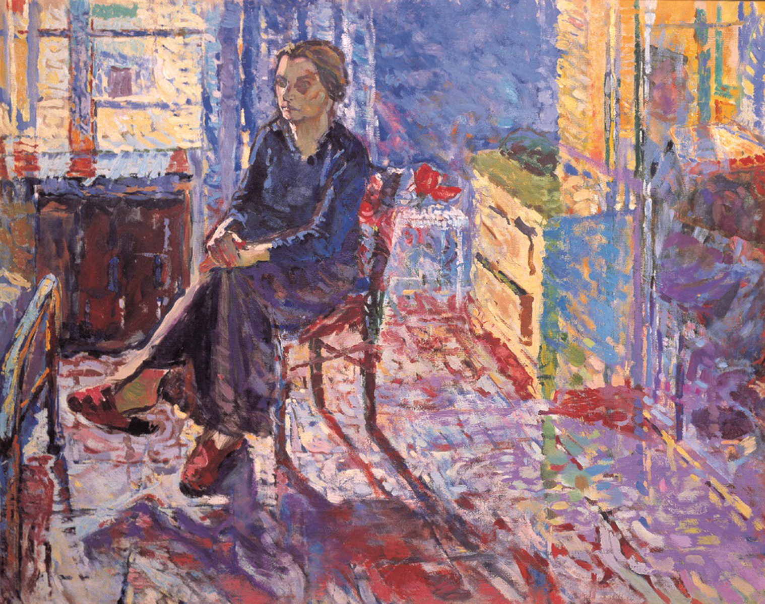 Madre del pintor, oleo sobre lienzo 60x73cm. Decada 70
