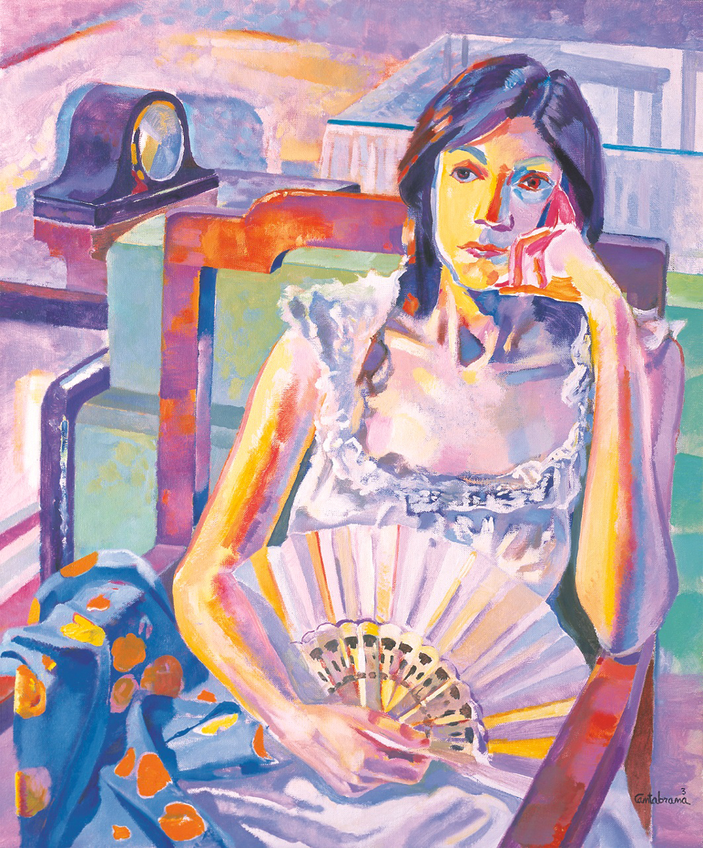 Mujer-con-abanico-oleo-sobrelienzo-65x54-cm