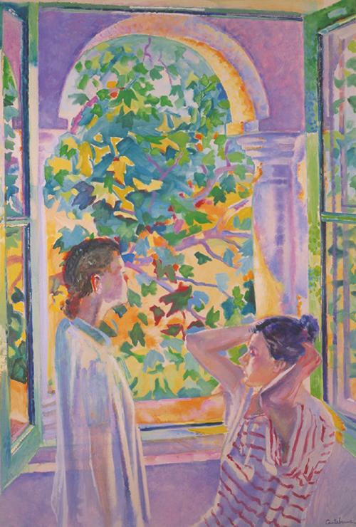 Ventana-y-figuras-oleo-sobre-lienzo-92x65-cm