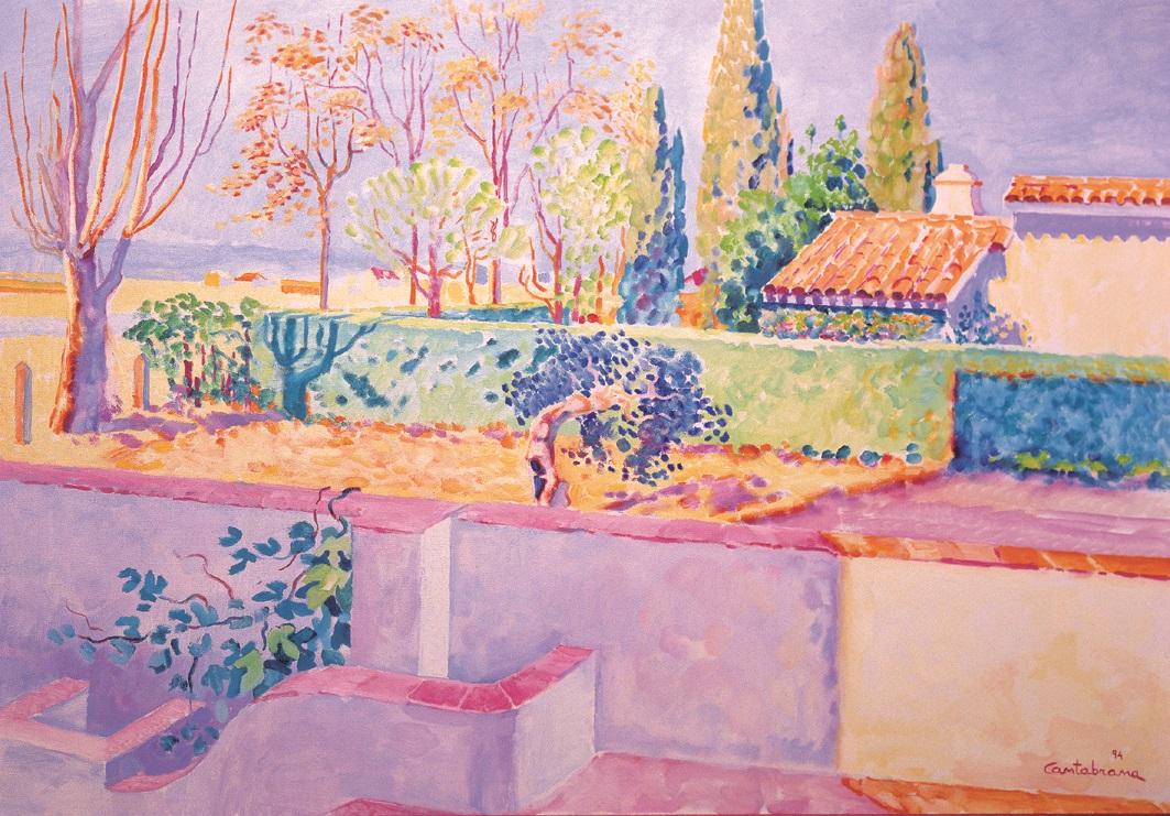 Verano en San Felix oleo sobre lienzo 65x92 cm